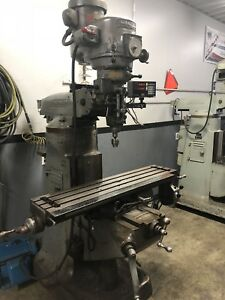 9x42 Bridgeport 2 j Head Vertical Milling Machine Dro And Power Feed