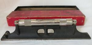 Vintage Starrett No 98 Machinist 12 Inch 3 Vial Ground Graduated Level 4 Repair