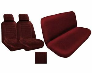 A Set Of 2 Universal Fit Low Back Regal Pattern Front Bucket Seat Cover And O