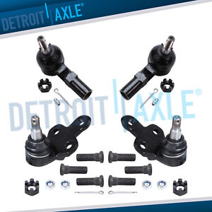 4pc Front Lower Ball Joint Outer Tie Rods For 1992 2001 Toyota Camry Lexus Es300