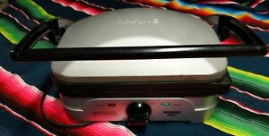 Waring Pro Grill Panini Maker Wgg500 Used just Machine Stainless No Plates