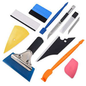 Pro Car Wrapping Window Tint Vinyl Felt Squeegee 2 X Micro Gasket Tools Kit Us