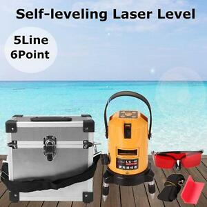 5 Line 6 Point 360 Rotary Multipurpose Laser Level Automatic Self Leveling
