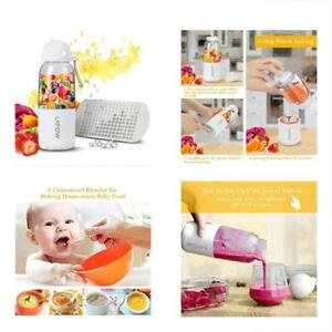 Smoothie Blender Usb Juicer Portable With Travel Lid Ice Tray Household Cup
