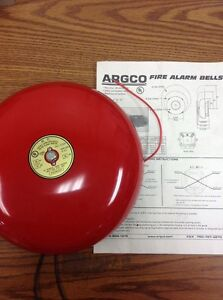 Argco Hc 1024 10 Fire Alarm Bell Red Loc 11b
