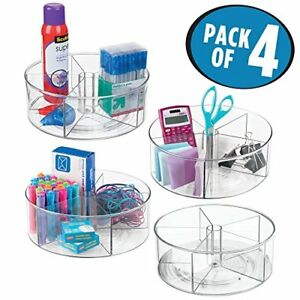 Mdesign Office Supply Lazy Susan Turntable Organizer For Home pack Of 4