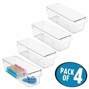 Mdesign Office Supplies Desk Cabinet Organizer Bin For Pens pack Of 4