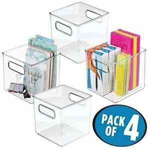 Mdesign Plastic Office Supply And Home Desk Storage Shelf pack Of 4 Cubes