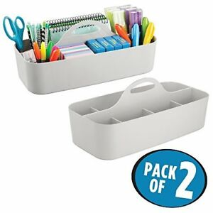 Mdesign Large Office Caddy Storage Container amp Organizer Tote pack Of 2