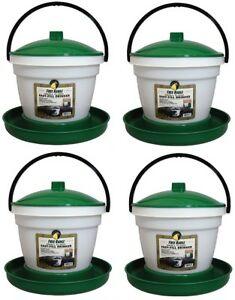4 Harris 1000266 3 5 Gal Large Flock Poultry Chicken Game Bird Waterer Drinker