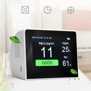 Lcd Digital Gas Monitor Indoor Air Quality Analyzer Laser Pm2 5 Detector Tester