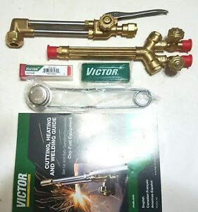 New Victor Cutting Welding Torch Set Ca1350 Attachment 100fc Handle 0 3 101 Tip