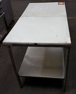 Stainless Steel Poly Trimming Table 60 X 30 Commercial Kitchen Tables