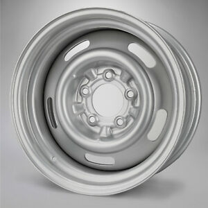 New Steel Rally Wheel 15 X 7 Gray Direct Fit 1968 C3 Corvette