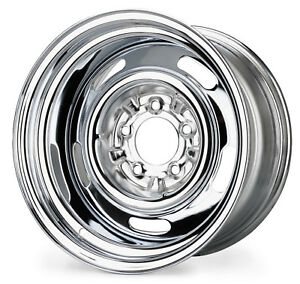 New Steel Rally Wheel 15 X 8 Direct Fit Chrome 1969 1982 C3 Corvette