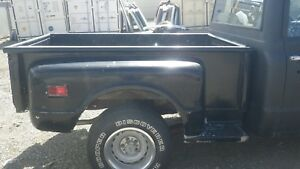 1967 1972 Chevy Truck Short Bed Assembly With Spare Tire Cutout Used Wood Floor