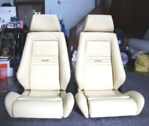 2 Jdm Recaro Specialist Leather Seats Solid Headrest Racing Cars 70 off 24 Hours