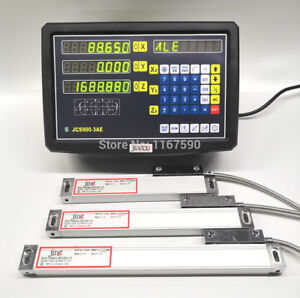 Jcs900 3ae 3 Axis Digital Readout With 3 Pcs 50 1020mm 5micron Linear Scale