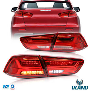 Vf Led Tail Lights For 2008 2017 Mitsubishi Lancer Evo X Rear Lamps Red R L