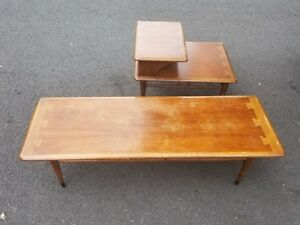 Lane Mid Century Modern Acclaim Side End Table Cocktail Table 900 Series