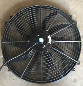 16 Universal High Performance Cooling Fan W Curved Blades 12v