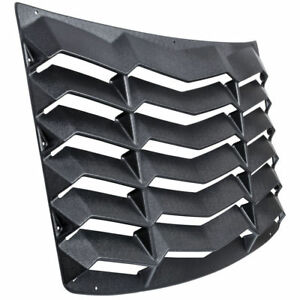 Matte Black Rear Window Louver Sunshade Cover For Chevy Chevrolet Camaro 2016 18
