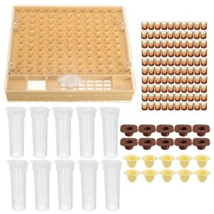 Queen Rearing System Bee Catcher Cage Beekeeping 110 Cell Cups Tool Set Beekeepi