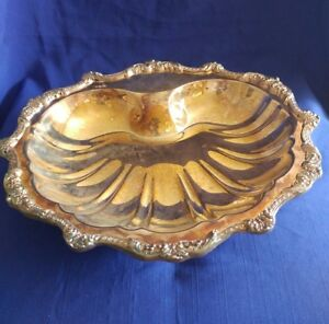 Poole Silver Plated Scalloped Calm Shell Serving Dish Ornate 5926