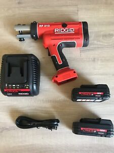 New Ridgid Rp210 Propress Crimping Tool With 2 New Batteries And New Charger