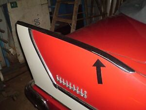 1958 Plymouth Belvedere Fury stainless Rear Fin Topper