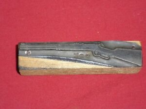 Winchester Lever Action Model 94 Mod 1894 Printers Block Lead Linotype