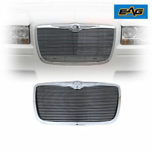 2005 2010 Chrysler 300c Front Grille Hood Grill All Chrome Horizontal Style