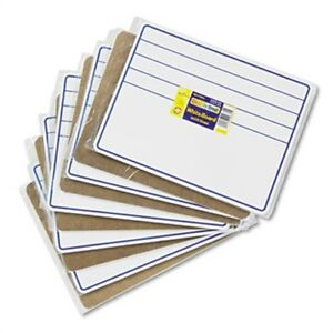 Student Dry erase Boards 12 X 9 Blue white 10 set
