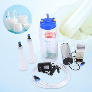 2l Portable Electric Milking Machine With Pulse Controller For Farm Cows Sheep