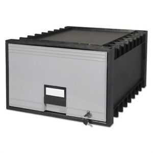 Archive Drawer For Legal Files Storage Box 24 Depth Black gray