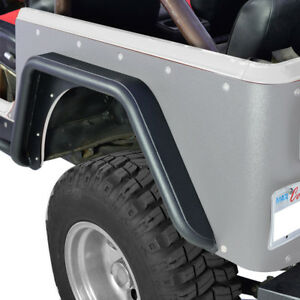 76 86 Jeep Wrangler Cj7 Rear Fenders Armor Black Textured With 3 Inch Flares