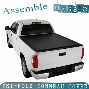 For 09 18 Dodge Ram 1500 6 5ft 78in Bed Assemble Lock Tri fold Tonneau Cover