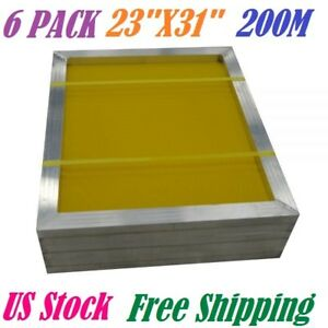 6 Pack 23 X 31 Aluminum Frame Silk Screen Printing Screens 200 Mesh Us Stock