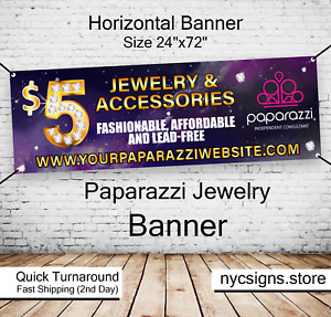 Paparazzi Jewelry Banner Sign Size 2ft X 6ft 24 Hours Turnaround