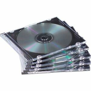 Fellowes Slim Jewel Cases 100 Pack Jewel Case Book Fold Plastic Clear