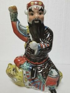 Chinese Famille Rose Shoulao Porcelain Statue 9 5 Marked