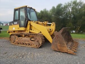 1996 Caterpillar 953c Tracked Crawler Loader Diesel Engine Hydraulic 4 1 Bucket