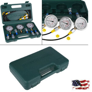 Excavator Hydraulic Pressure Test Kit With Hydraulic Tester And Test Couplingus