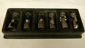 Snap on 3 8 Drive 6pc Metric 6pt Shallow Swivel Socket Set 206fsuma