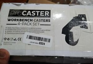 Procaster Workbench Caster Kit Pack Of 4 Durable Heavy Duty See Descripti