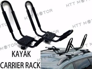 1 Pair Canoe Boat Kayak Roof Rack Car Suv Truck Top Mount Carrier J Cross Bar