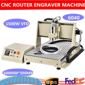 4 Axis Engraver 1500w Cnc6040 Router Engraving Drilling Milling Machine 3dcutter