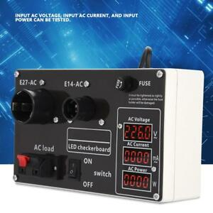Ac 220v Led Test Box Checkerboard Volt Current Power Tester W e14 E27 Socket