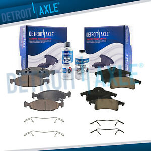 Front Rear Ceramic Brake Pads Kit For 1999 2000 2001 2002 Jeep Grand Cherokee
