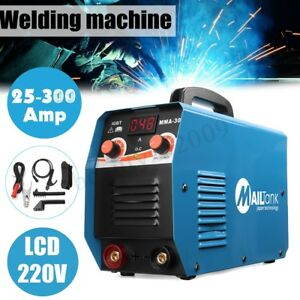 300 Amp Compact Electrode Inverter Welding Machine With Lcd Digit